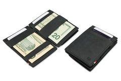 Garzini RFID Leather Magic Coin Wallet Brushed - Black - 5