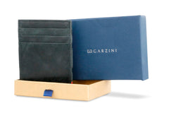 Garzini RFID Leather Magic Coin Wallet Brushed - Black - 7