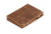 Garzini RFID Leather Magic Coin Wallet Brushed - Brown - 1