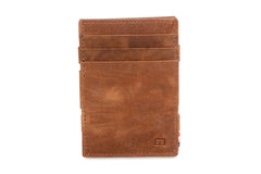 Garzini RFID Leather Magic Coin Wallet Brushed - Brown - 2