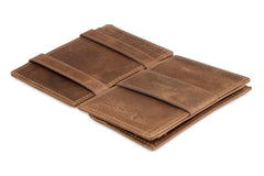 Garzini RFID Leather Magic Coin Wallet Brushed - Brown - 3