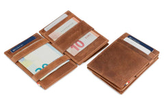 Garzini RFID Leather Magic Coin Wallet Brushed - Brown - 4