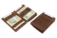 Garzini RFID Leather Magic Coin Wallet Brushed - Brown - 5