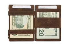 Garzini RFID Leather Magic Coin Wallet Brushed - Brown - 8