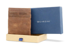 Garzini RFID Leather Magic Coin Wallet Brushed - Brown - 7