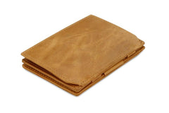 Garzini RFID Leather Magic Coin Wallet Brushed - Cognac - 1