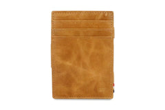 Garzini RFID Leather Magic Coin Wallet Brushed - Cognac - 2
