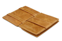 Garzini RFID Leather Magic Coin Wallet Brushed - Cognac - 3