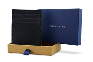 Garzini RFID Leather Magic Coin Wallet Vintage-Black