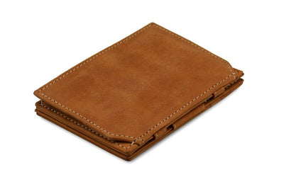 Garzini RFID Leather Magic Coin Wallet - Cognac