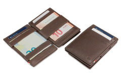 Garzini RFID Leather Magic Coin Wallet Nappa - Brown - 4
