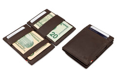 Garzini RFID Leather Magic Coin Wallet Nappa - Brown - 5