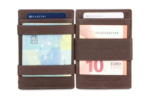 Garzini RFID Leather Magic Coin Wallet Nappa-Brown