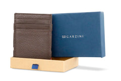 Garzini RFID Leather Magic Coin Wallet Nappa - Brown - 9