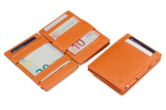 Garzini RFID Leather Magic Coin Wallet Nappa - Cognac - 4