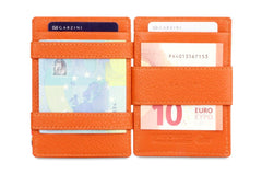 Garzini RFID Leather Magic Coin Wallet Nappa - Cognac - 6