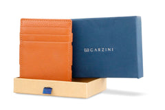 Garzini RFID Leather Magic Coin Wallet Nappa - Cognac - 7