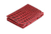 Garzini RFID Leather Magic Coin Wallet Croco - Red - 1