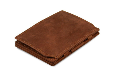 Garzini RFID Leather Magic Coin Wallet - Brown