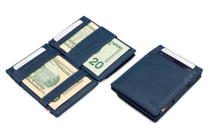Garzini RFID Leather Magic Coin Wallet Nappa-Blue