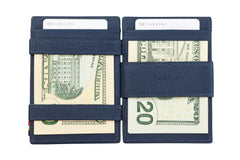 Garzini RFID Leather Magic Coin Wallet Nappa - Blue - 8