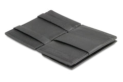 Garzini RFID Leather Magic Coin Wallet Nappa - Black - 3