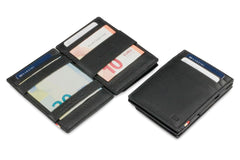 Garzini RFID Leather Magic Coin Wallet Nappa - Black - 4