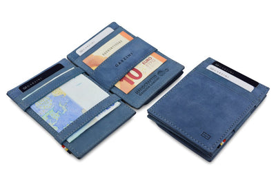 Garzini RFID Leather Magic Coin Wallet - Black