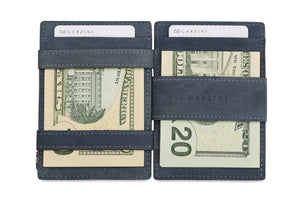 Garzini RFID Leather Magic Coin Wallet Vintage-Blue