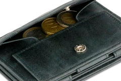 Garzini RFID Leather Magic Coin Wallet Plus Brushed - Black - 5