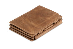 Garzini RFID Leather Magic Coin Wallet Plus Brushed - Brown - 1