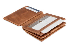 Garzini RFID Leather Magic Coin Wallet Plus Brushed - Brown - 4