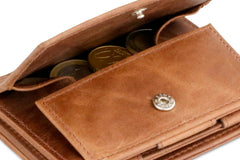 Garzini RFID Leather Magic Coin Wallet Plus Brushed - Brown - 5