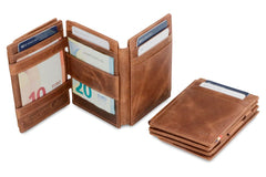 Garzini RFID Leather Magic Coin Wallet Plus Brushed - Brown - 6
