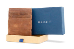 Garzini RFID Leather Magic Coin Wallet Plus Brushed - Brown - 10
