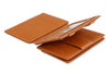 Garzini RFID Leather Magic Coin Wallet Plus Nappa-Cognac