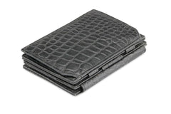 Garzini RFID Leather Magic Coin Wallet Plus Croco - Black - 1