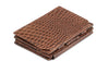 Garzini RFID Leather Magic Coin Wallet Plus Croco - Brown - 1