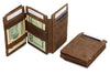 Garzini RFID Leather Magic Coin Wallet Plus Vintage-Brown