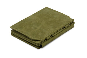 Garzini RFID Leather Magic Coin Wallet Plus Vintage-Green