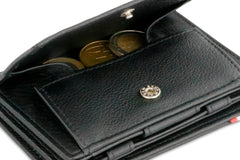 Garzini RFID Leather Magic Coin Wallet Plus Nappa - Black - 5