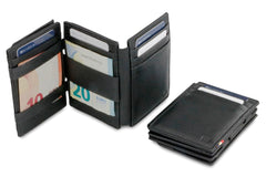 Garzini RFID Leather Magic Coin Wallet Plus Nappa - Black - 6