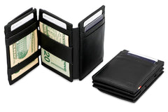 Garzini RFID Leather Magic Coin Wallet Plus Nappa - Black - 7