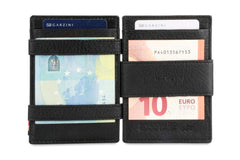 Garzini RFID Leather Magic Coin Wallet Plus Nappa - Black - 8