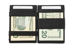 Garzini RFID Leather Magic Coin Wallet Plus Nappa - Black - 9
