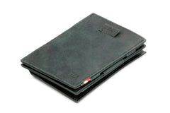 Garzini RFID Leather Magic Coin Wallet Card Sleeve Brushed - Black - 1