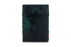 Garzini RFID Leather Magic Coin Wallet Card Sleeve Brushed - Black - 2