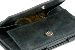 Garzini RFID Leather Magic Coin Wallet Card Sleeve Brushed - Black - 5