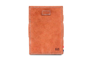 Garzini RFID Leather Magic Coin Wallet Card Sleeve Vintage-Cognac