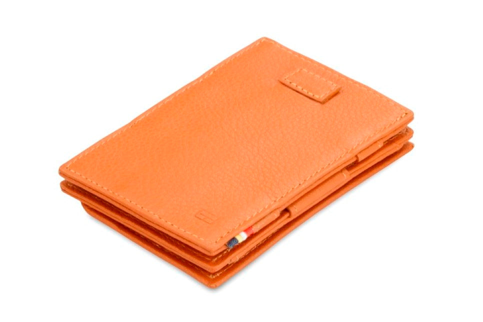 Garzini RFID Leather Magic Coin Wallet Card Sleeve Nappa-Cognac